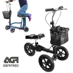 Steerable Knee Walker Madical Scooter Turning Brake Basket C
