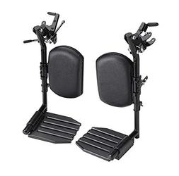Invacare T94HAP Elevating Leg Rest Aluminum Footplates & Cal