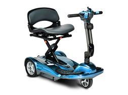 EV Rider Transport AF - Auto FOLDING Mobility Scooter - Blue