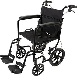 ProBasics Aluminum Transport Wheelchair With 19 Inch Seat -