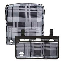 Two Bags Wheelchair Accessories by Astrata - Backpack Storag