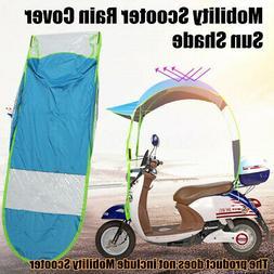 Universal Car Motor Scooter Blue Umbrella Mobility Sun Shade
