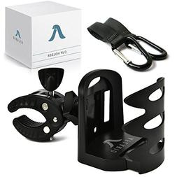 Universal Stroller Cup Holder + 2 Hooks | Attachable Drink H