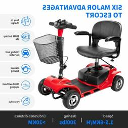 US folding 4 wheel electric powered mobility scooter wheelch