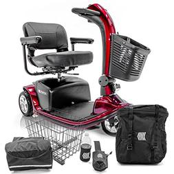 VICTORY 9 Pride 3-wheel Electric Scooter SC609 Red + Challen