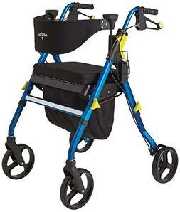 """Walker Medline Premium Empower Folding Mobility Rollator 8"""""""