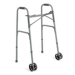Bariatric Heavy-Duty Folding Walker with Wheels for Seniors,