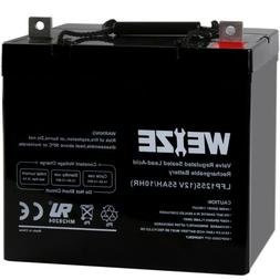 Weize 12 Volt 55AH AGM Battery For Scooter Wheelchair Mobili