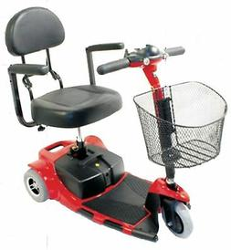 Zip'r Roo 3 Wheel Compact Mobility Scooter Transport Red Blu