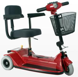"Zip'r Traveler 3-Wheel Mobility Scooter 14""W x12.5""D Sea"