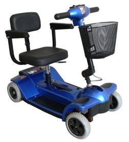 "Zip'r Traveler 4-Wheel Mobility Scooter 14""W x12.5""D Sea"