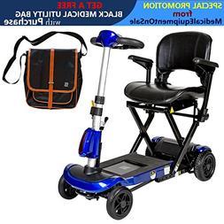 Drive ZooMe Auto-Flex Folding Travel Scooter, Blue & FREE Me